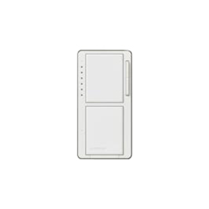 Incandescent/Halogen Dual Dimmer and Switch, White