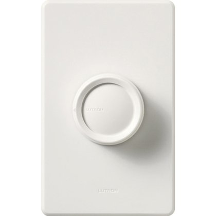 Rotary Dimmer, Push On/Off, 3-Way, White *** Discontinued ***