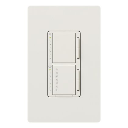 Dual Dimmer/Timer Switch, Maestro, Snow