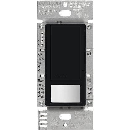 Vacancy Sensor Switch Dimmer, 8A, Maestro, Black