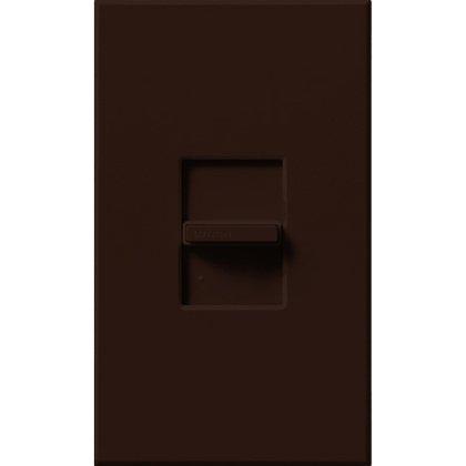 Slide Dimmer, Fluorescent, 3-Way, Brown