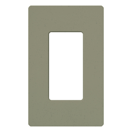 Dimmer/Fan Control Wallplate, 1-Gang, Satin Series, Greenbriar Finish