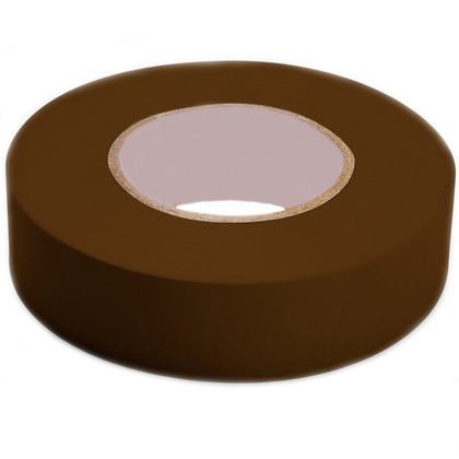 """Color Coding Electrical Tape, Vinyl, Brown, 3/4"""" x 66'"""
