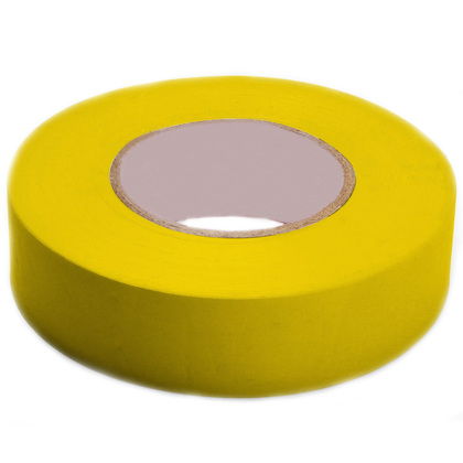 """Color Coding Electrical Tape, Vinyl, Yellow, 3/4"""" x 66'"""