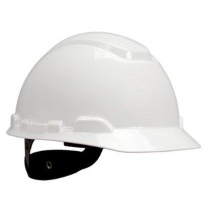 H-700 Series White Hard Hat, Short Brim, 4-Point Rachet Suspension