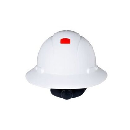 Full Brim Hard Hat, White, 4-Point Ratchet Suspension, Uvicator *** Discontinued ***