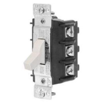 Manual Motor Switch, 30A, 600VAC, Short Toggle, 3P, Black