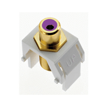 PURPLE RCA TO F-CONNECTOR WH (M20)