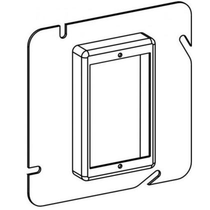 """4-11/16"""" Square Cover, 1-Gang Device Ring"""