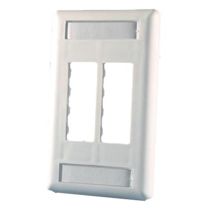 Wallplate 4-Port 1-Gang White