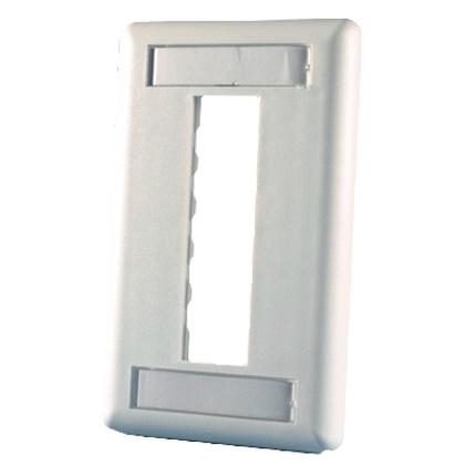 Wallplate 3-Port 1-Gang White