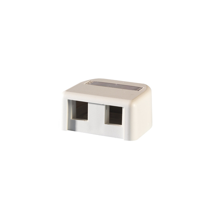 Two Port TechChoice Surface Mount Box Fog White