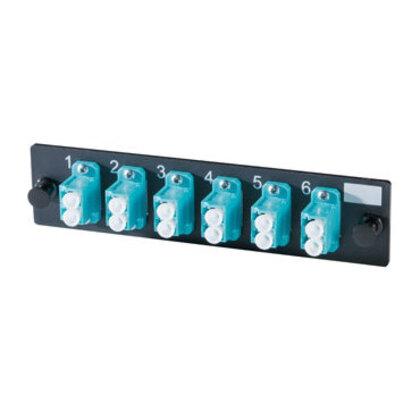 LC Adapter Plate, 12 Fibers, Aqua