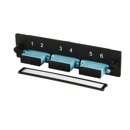 Adapter Plate, 6 Fibers, Black/Aqua