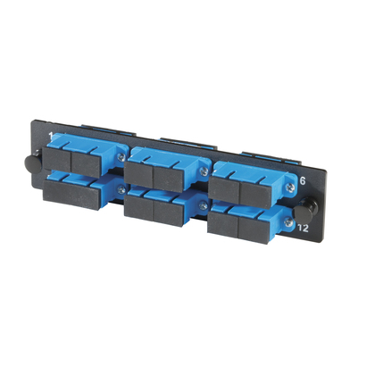 Adapter Plate, 6-SC Duplex, 12 Fibers, Singlemode, Ceramic Sleeve