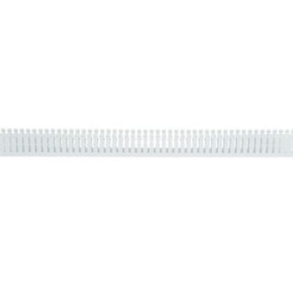 "Wiring Duct,  Narrow Slot, 1"" x 2"" x 6', PVC, White"