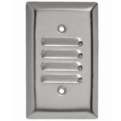 Louvre Wallplate, 1-Gang,  Stainless Steel Type, Vertical *** Discontinued ***