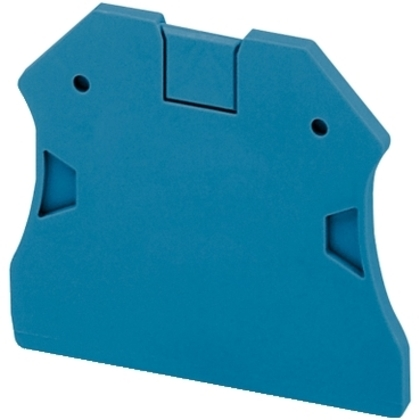 END COVER 2PTS FOR SCREW TERMINALS BLUE *** Discontinued ***