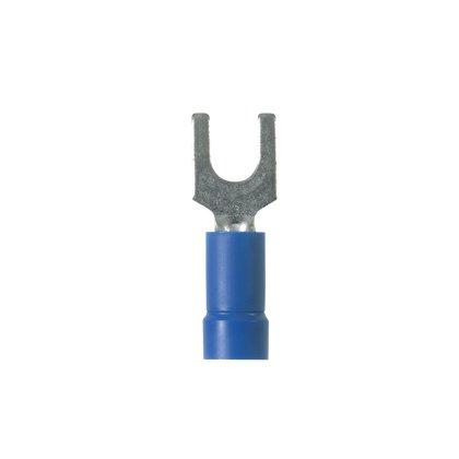 Fork Terminal, Vinyl Insulated, 18-14 AWG. #6 Stud, Blue