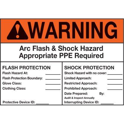 Vinyl Adhesive Sign, Warning Header