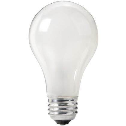 Incandescent Bulb, Rough Service, A21, 100W, 120-130V, Frosted