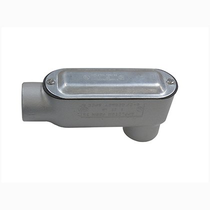 "Conduit Body, Type: LB, Size: 2"", Spec 5, Malleable Iron"