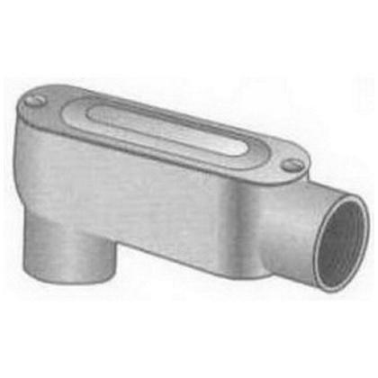 """Conduit Body, Type: LB, 3/4"""", Form 85, Cover/Gasket, Aluminum"""