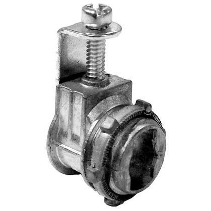 """AC/MC/Flex Connector, Saddle Type, 3/8"""", Zinc Die Cast"""