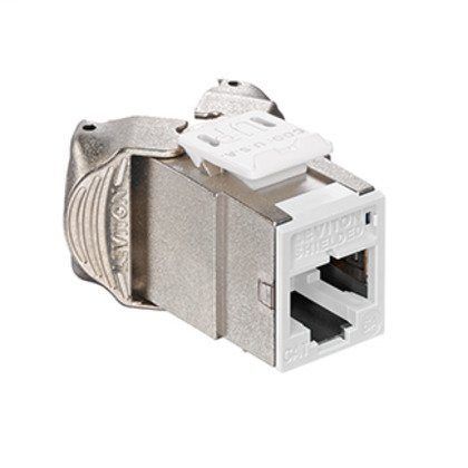 Atlas-X1 Cat 6A Shielded QuickPort Connector, Component-Rated, White