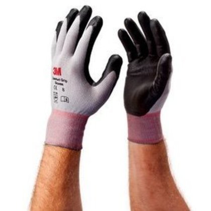 Comfort Grip Gloves, Large, Gray