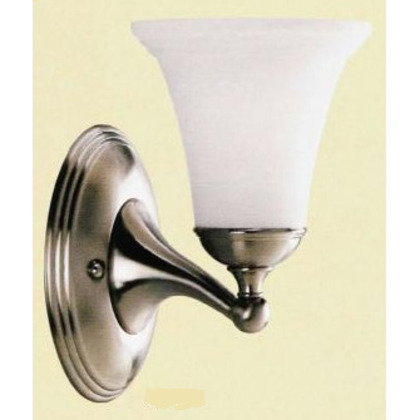 Bath Light, 1-Light, 100W, Brushed Nickel, Limited Quantities Available *** Discontinued ***