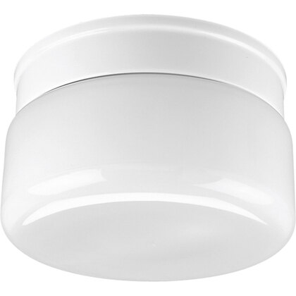 Drum Fixture, 2-Light, 60W, White