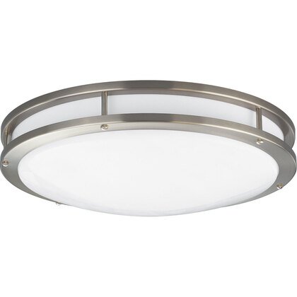 Close to Ceiling Light, 2-Light, 22/32W, Brushed Nickel *** Discontinued ***