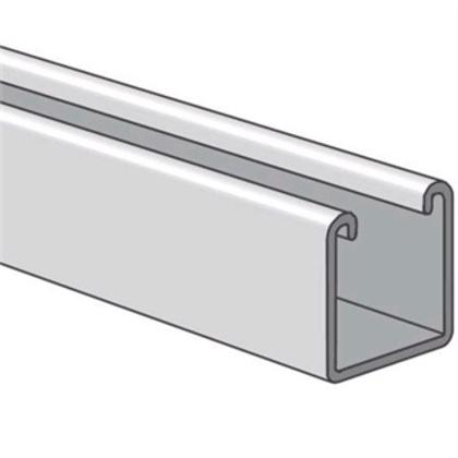 "Channel - No Holes, Aluminum, 1-5/8"" x 1-5/8"" x 10'"