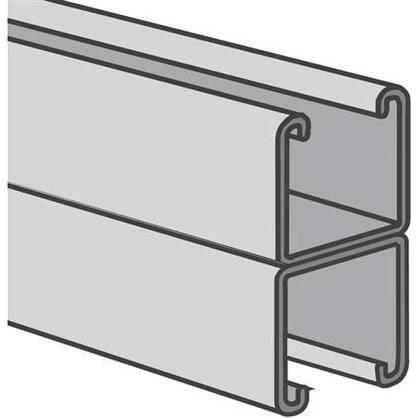 """Channel - Back To Back, Steel, Pre-Galvanized, 1-5/8"""" x 3-1/4"""" x 10'"""