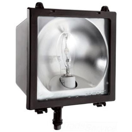 EZ FLOOD 150W MH QT HPF AND  LAMP BRONZE