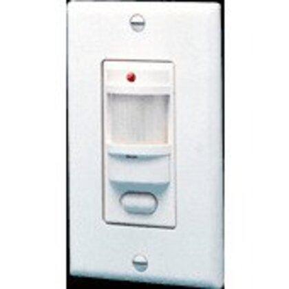 Motion Sensor, 180°, 1000W, 120V, White, 1000' Range