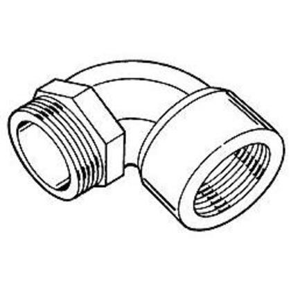 """Rigid Elbow, 3/4"""", Short, Male to Female, 90°, Malleable Iron"""