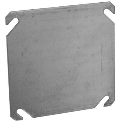"""4"""" Square Cover, 0-Device, Cover, No Raise, Drawn, Metallic"""