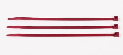 "Air Handling Cable Tie, Standard, 11"" Long, Nylon, Burgundy, Bag of 100"