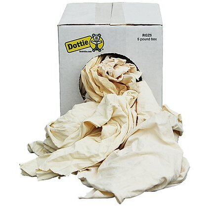 Five Pound Bag of Rags (New White Knit)