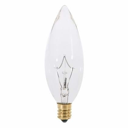 Incandescent Lamp, B9-1/2, 40W, 130V, Clear