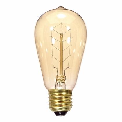 Incandescent Vintage Lamp, 40W 120V ST19