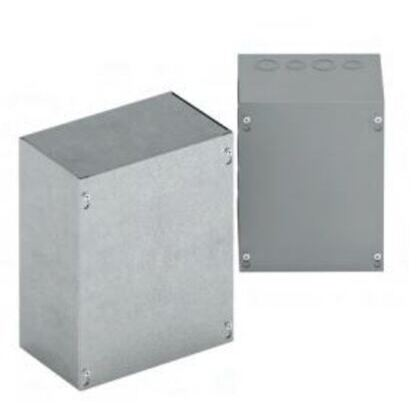"Junction Box, NEMA 1, Screw Cover, 16 x 16 x 4"", Galvanized Steel"
