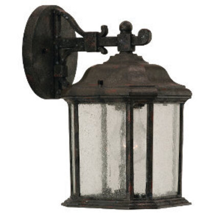 Single Light Outdoor Wall Lantern, Oxford Bronze, 100W, 120V