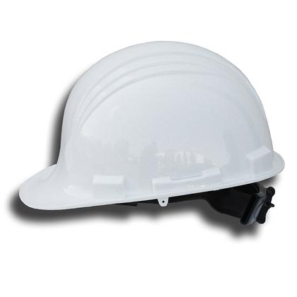 Front Brim Hard Hat, 6-Pt Suspension - White
