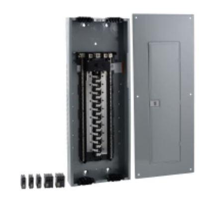 Load Center, Homeline, Main Breaker, 200A, 120/240VAC, Value Pak