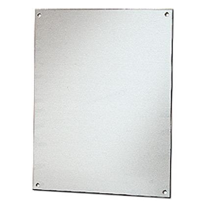 "Back Panel For Enclosure, 20"" x 16"", Aluminum"
