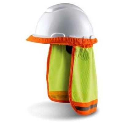 ANSI Hard Hat Sun Shade, Hi-Visibility Yellow
