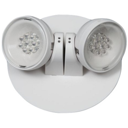 Emergency Light, LED, Remote, 2-Head, 5.4W, 3.6V, White